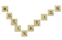 Motivation écrit avec les lettres du scrabble