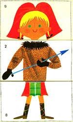 Jeu pour enfant avec 3 cartes pour 3 parties du corps