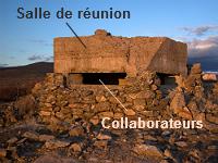 """Bunker avec la légende """"salle de réunion"""" et """"collaborateurs"""""""