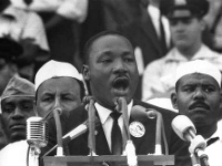 Martin Luther King en plein discours