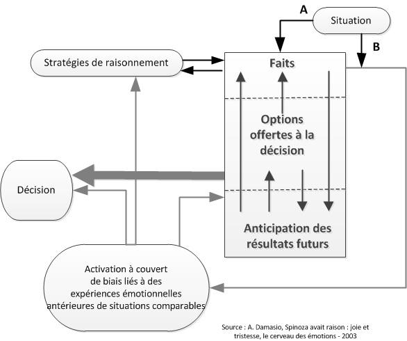 Schéma Emotions et décision par A. Damasio