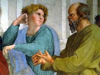 Alibiade et Socrate, détail de l'Ecole d'Athènes, Raphaël