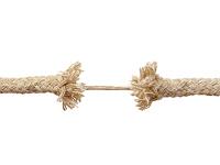 Corde usée sur le point de céder