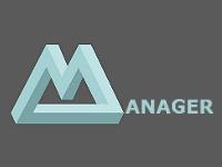 """Logo """"Manager"""" avec le M en ruban de Moebius"""