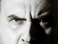 Visage d'homme en colère