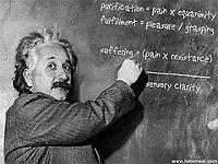 Einstein pose une équation - Licence CC - Certains droits réservés par ~C4Chaos - Flickr