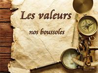 """Objets d'explorateur avec le titre """"Les valeurs, nos boussoles"""""""