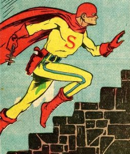 Spero, d'après By Will Eisner (pencils) and Lou Fine (inks), uploaded by Roygbiv666 - Public Domain Super Heroes, Public Domain, https://commons.wikimedia.org/w/index.php?curid=10405477