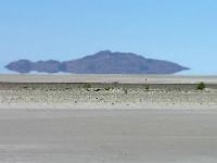 Photo d'un mirage dans le désert