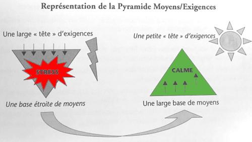schéma de la pyramide moyens / exigences