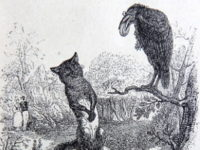 Le corbeau et le renard, illustration