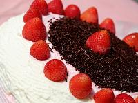 Gâteau crème fraises pour se faire plaisir