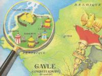 le village gaulois sur la première page des albums d'Asterix
