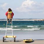 sauveteur sur la plage